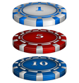 Casino poker chips vector
