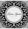 Floral ornamental border frame vector