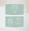 Hipster card vector