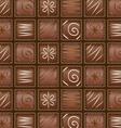Seamless chocolate pattern vector