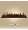 Leeds england skyline city silhouette vector