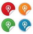 Map pointer user sign icon marker symbol vector