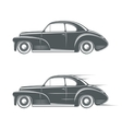 Black and white classic car icon vector