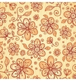 Ornate doodle flowers background vector