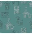 Seamless pattern with hand-drawn houses vector