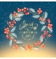 Christmas mistletoe wreath vector