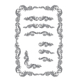 Frame set ornament vector
