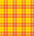 Orange yellow tartan fabric texture pattern vector