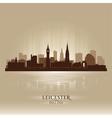 Leicester england skyline city silhouette vector