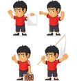 Soccer boy customizable mascot 15 vector