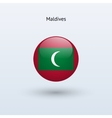 Maldives round flag vector