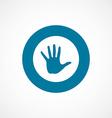 Arm bold blue border circle icon vector