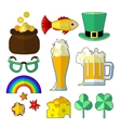 St patrik food objects vector