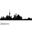 Shanghai city skyline silhouette background vector