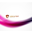 Blurred shiny wave purple and blue colors vector