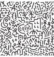 Crazy city - seamless background vector
