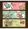 Diary vintage banners vector