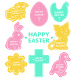 Easter sticker collection cute animals vector