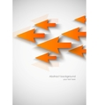 Abstract background with orange arrows vector