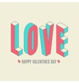 Happy valentines day card i love you vector
