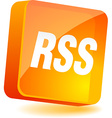 Rss icon vector