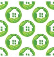 Eco house pattern vector