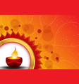 Diwali card vector