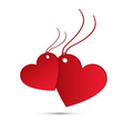 Two red hearts for valentines day vector
