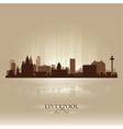 Liverpool england skyline city silhouette vector