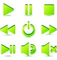 Green plastic navigation symbols set vector