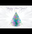 Christmas tree with stars vector