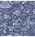 Fish and shells seamless vector