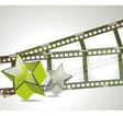 Old negative film strip vector