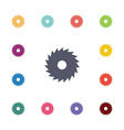 Saw flat icons set vector
