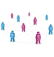 Abstract people social media vector