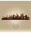 London england skyline city silhouette vector