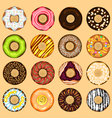 Donuts collection set vector