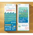 Summer holiday party boarding pass background vector