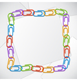 Color clips frame vector