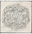 Art hand lettering and doodles elements vector