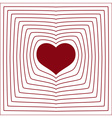 Abstract line heart love symbol white background vector