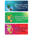 Earth globe banners vector