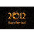 Gold dragon 2012 new year card vector