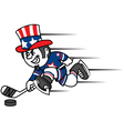 Hockey uncle sam vector