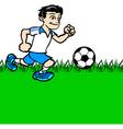 Boy playing football vector