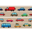 Stream of cars on the road vector