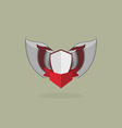 Shield with wings vintage heraldic shapes vector