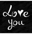 Love lettering in chalkboard style vector
