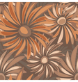 Retro floral seamless texture with asters vector