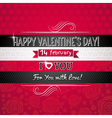 Red color background with valentine heart vector